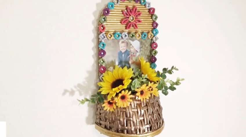 How to make unique newspaper wall hanging vase