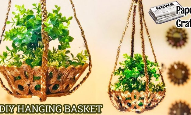How to make hanging flower basket
