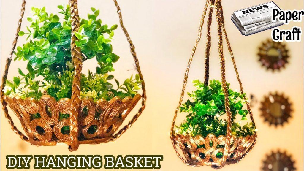 How to make hanging flower basket