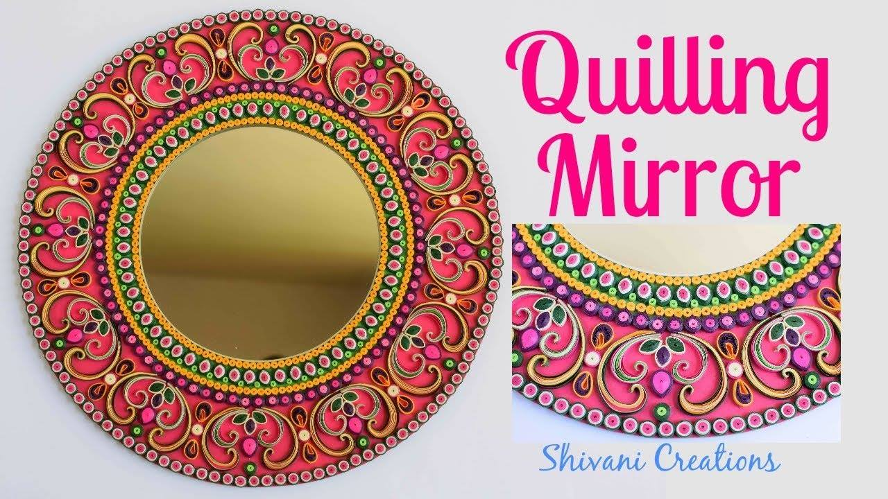 quilling wall mirror