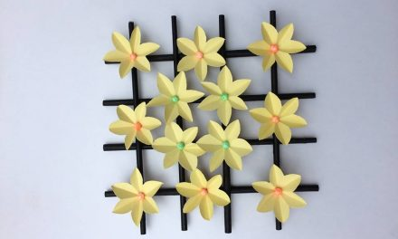 How to make wall hanging paper flower