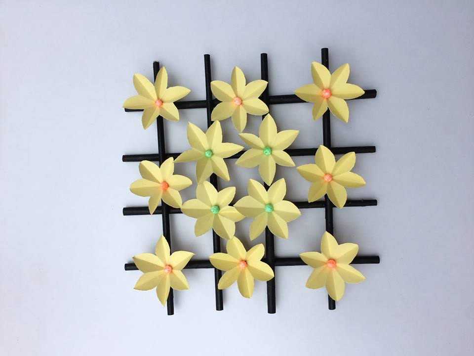 How to make wall hanging paper flower - Simple Craft Ideas