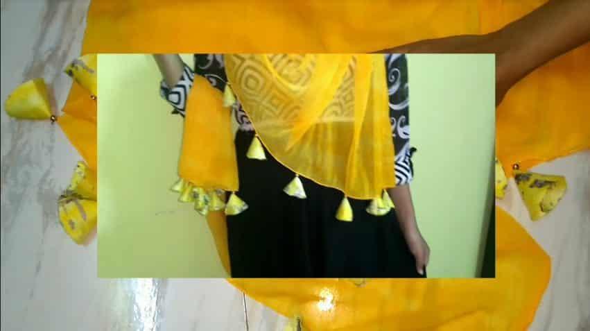 sari stole designing