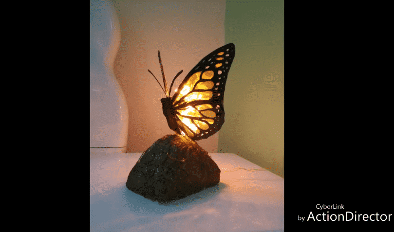 How To Make Butterfly Table Lamp Shade Simple Craft Ideas