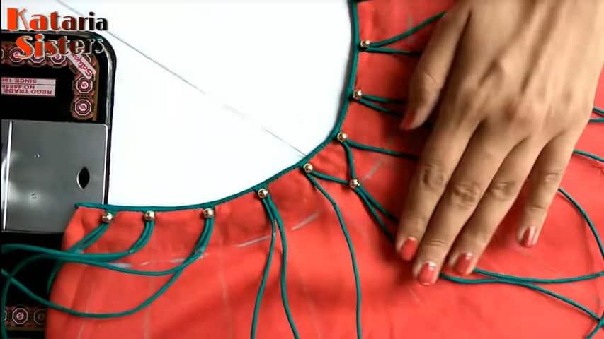 creative kurti neck