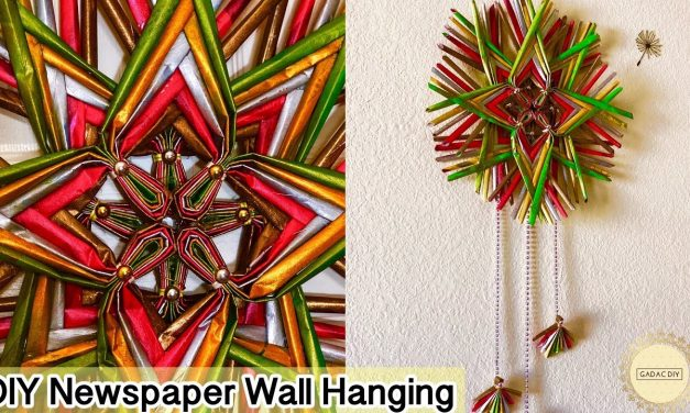 How to make newspaper wall hanging
