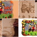 How to make a wall hanging from clay