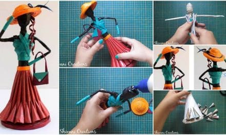 How to make newspaper doll
