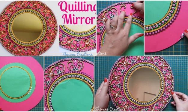 How to make quilling wall mirror