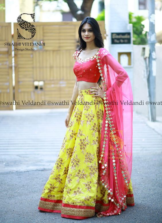 Designer Lehenga Cholis Simple Craft Ideas