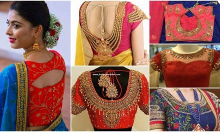 Latest saree blouse designs for silk sarees