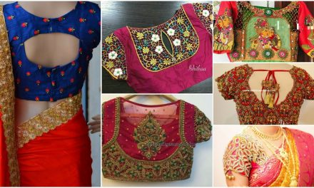 Trendy silk saree blouse designs catalogue