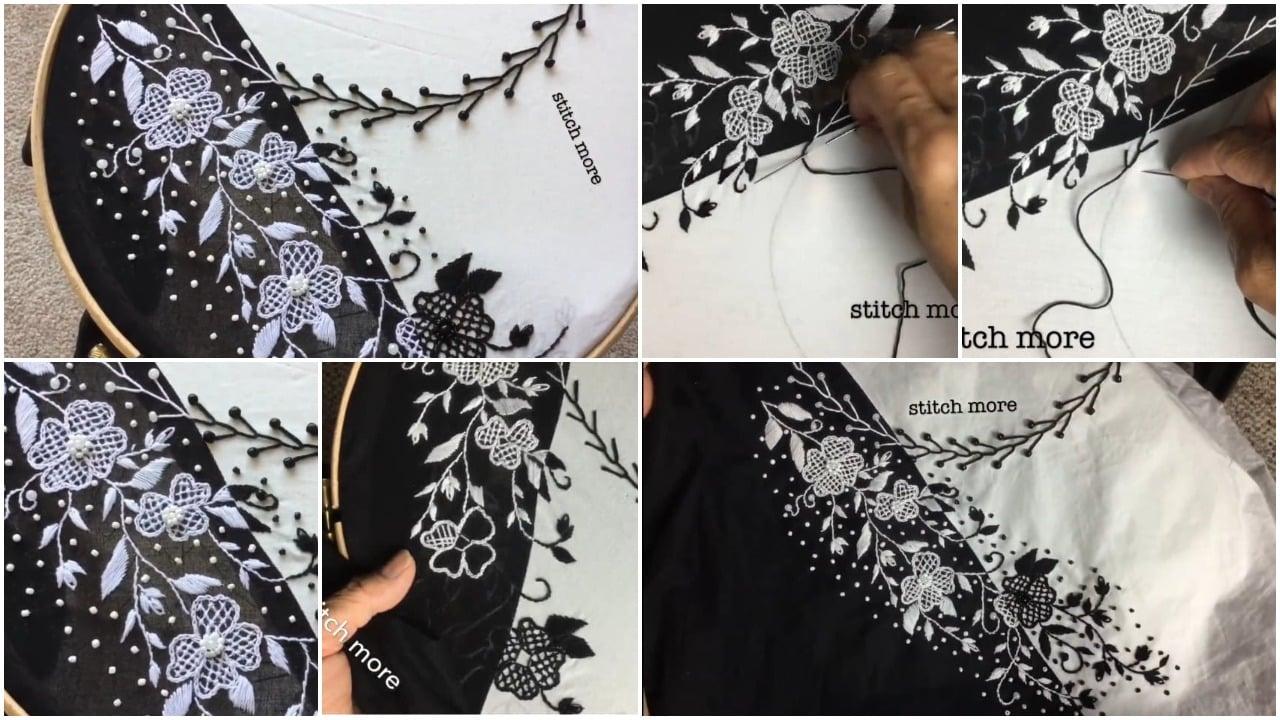 embroidery easy stitch neckline