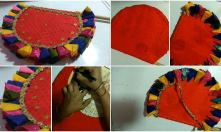 How to make hand fan from waste aata bag and old clothes