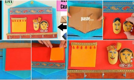 How to make key chain holder for decorating walls using waste material