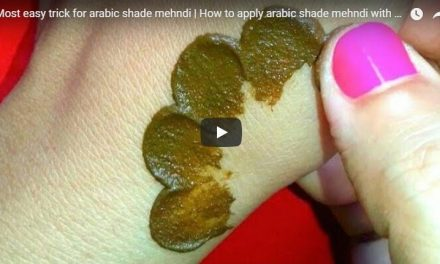 Most easy trick for arabic shade mehndi