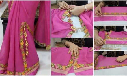 How to make a designer fancy cut saree