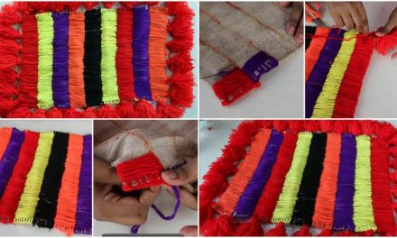 How to make doormats using woolen and jute rugs