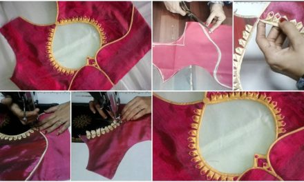 New and easy different model blouse neck design cutting and stitching