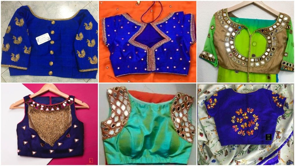 Latest Blouse Designs With Different Neck Patterns Simple Craft Ideas