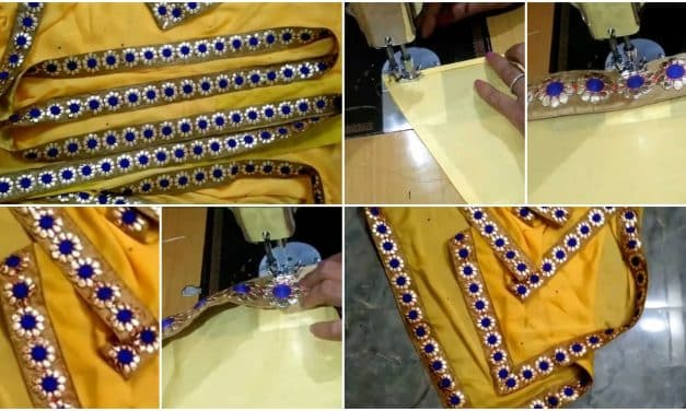How to make designer saree border