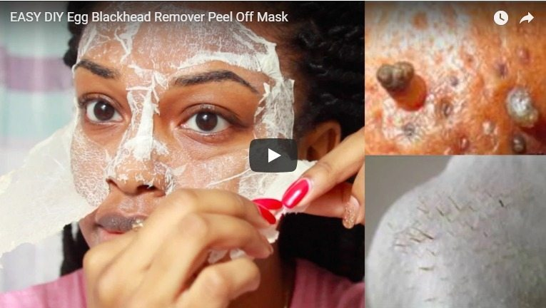 Easy DIY egg blackhead remover peel off mask