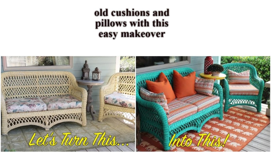 Spruce up old cushions and pillows with this easy makeover