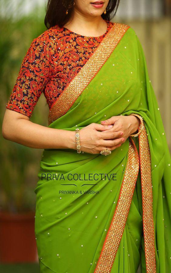 30 Trendy Silk Saree Blouse Designs Catalogue 2018