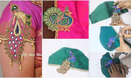 Hand made designer sleeves same like aari work