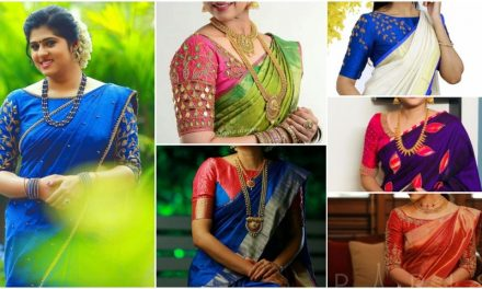 Contrast designer blouses for silk saree