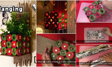 How to make the wall hanging from newspaper