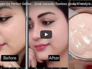 Homemade selfie cream