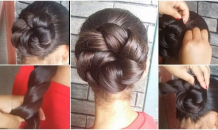 Simple and easy summer twisted updo