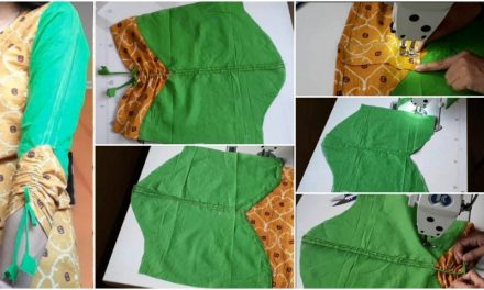 Designer sleeve pattern with pin tucks n dori gathers