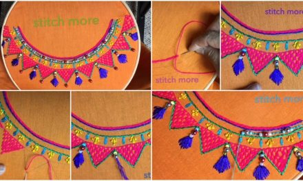 Hand embroidery easy stitch Neckline embroidery stitch designs