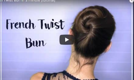 French twist bun in a minute