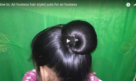How to do air hostess hair style
