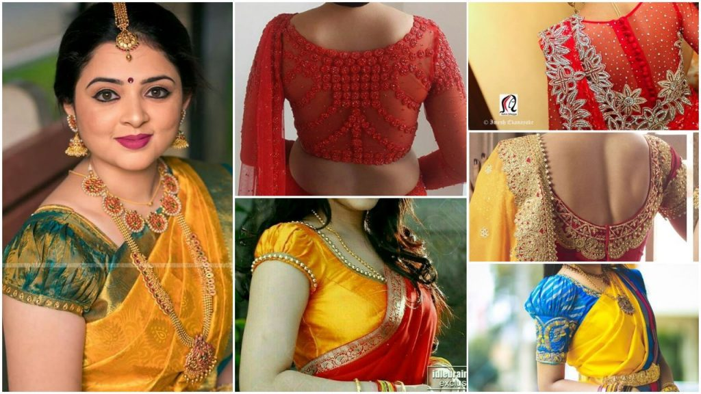 Trendy Silk Saree Blouse Designs Catalogue Simple Craft Ideas