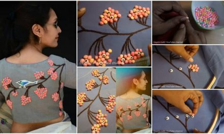3d creative and innovative idea to design on blouse