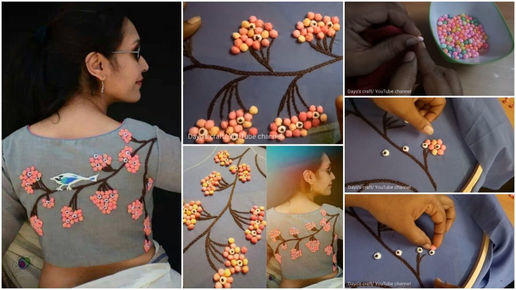 3d design on blouse