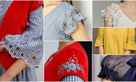 Different types of sleeves often found in vintage clothing