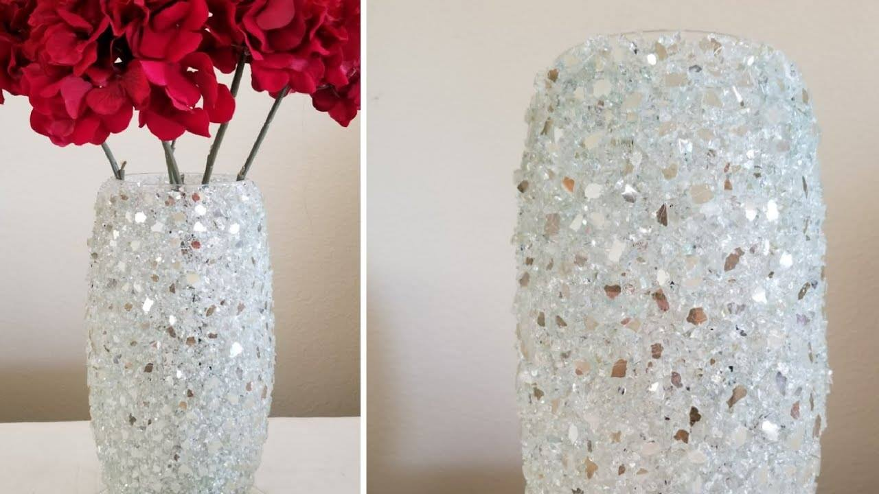 how to make vase from crushed glass simple craft ideas. Black Bedroom Furniture Sets. Home Design Ideas