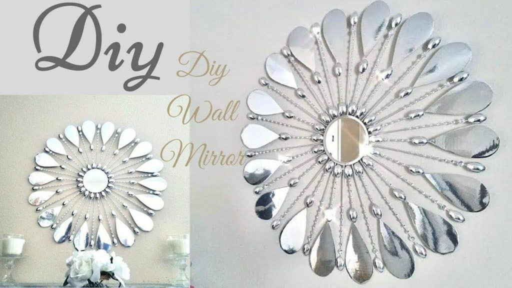Simple and inexpensive glam wall mirror décor