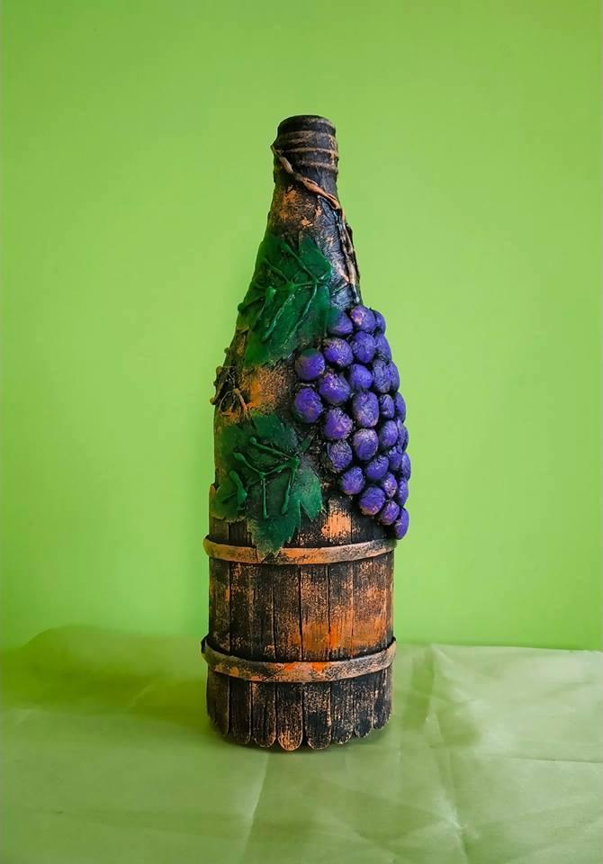 Waste Glass Bottle Decoration Idea Simple Craft Ideas
