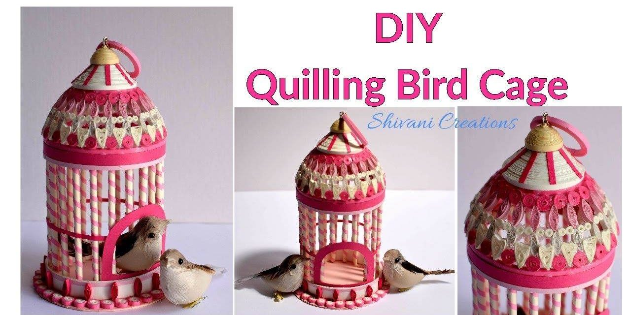 How to make quilled bird house
