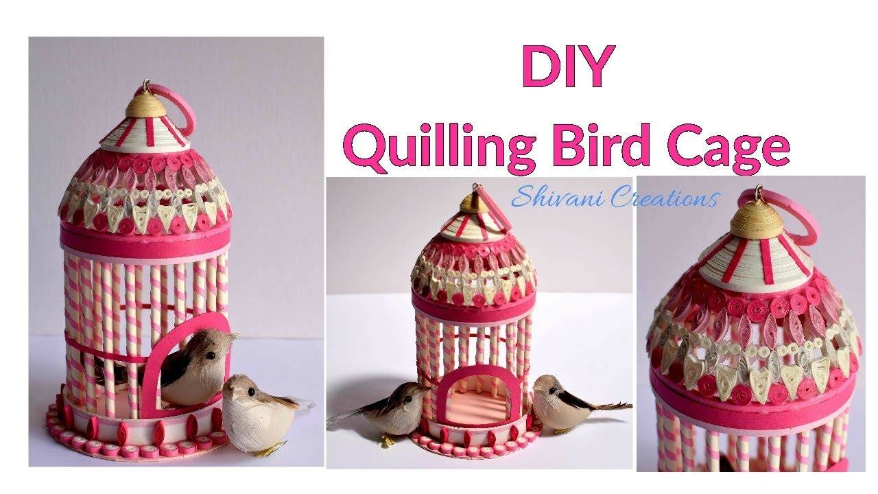 quilled bird house
