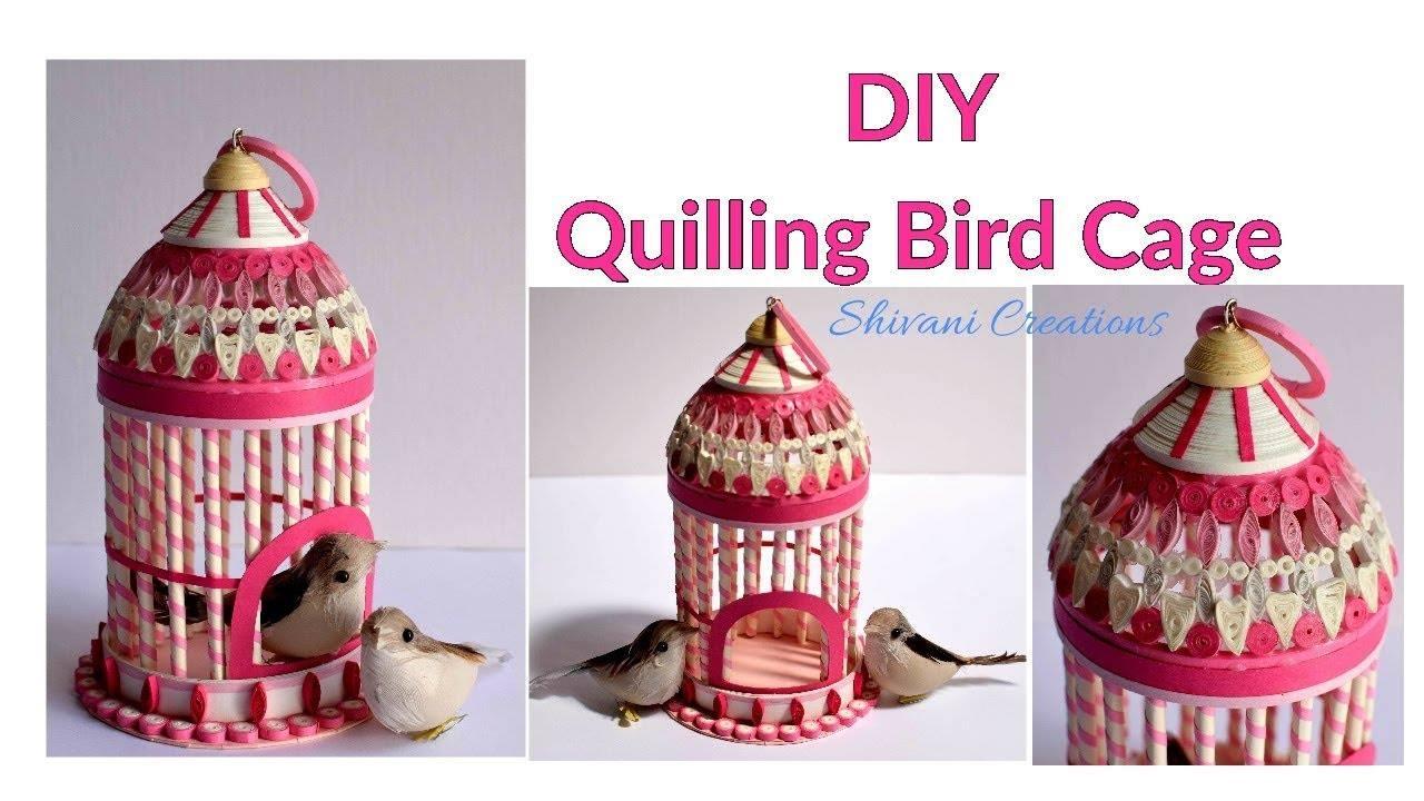 quilled bird house