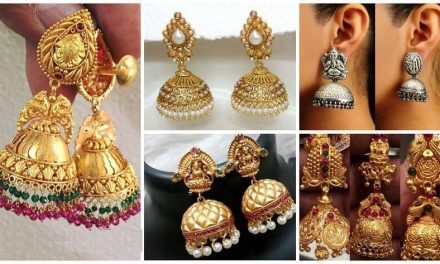 Traditional south indian temple jewellery jhumkas
