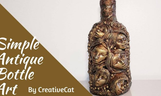 How to do antique bottle art