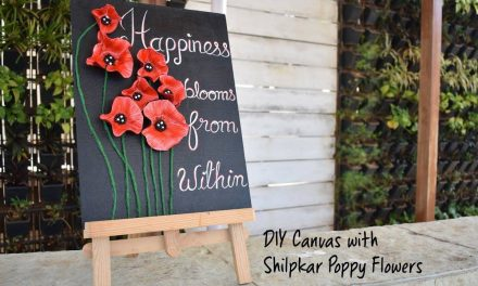 How to make canvas with shilpkar poppy flowers